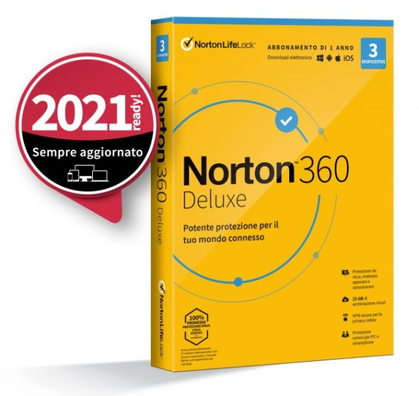SYMANTEC 21397790 INT.SEC. 1DEV 1Y 2020 10GB NORTON 360 STANDARD